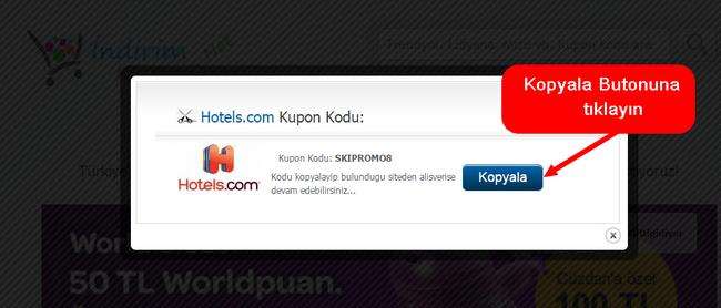 hotels.com indirim kuponu