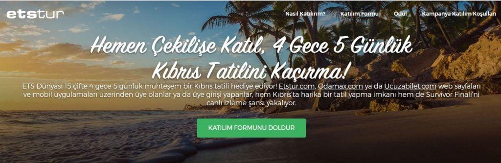 odamax survivor 2018 finali kıbris tatili hediye