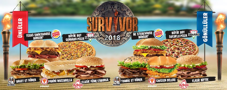 survivor burger king dominic cekilisi