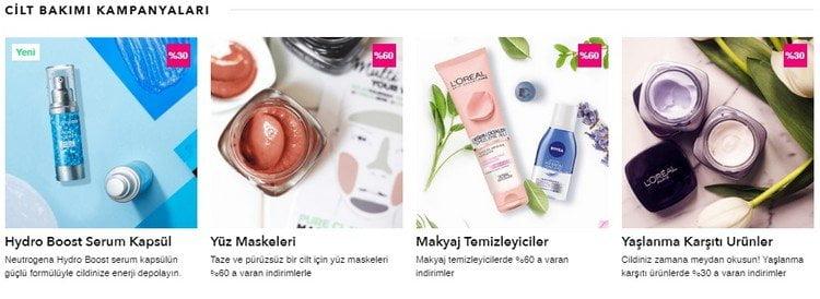 cosmetica indirim kampanyası