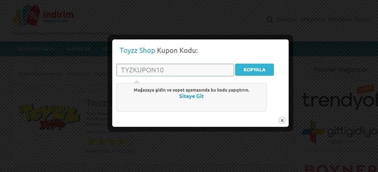 toyz shop indirim kodu