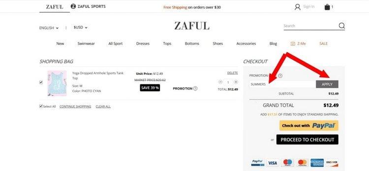 zaful promotion code