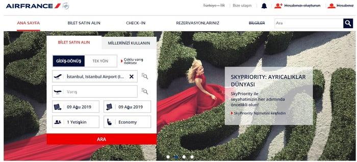 Air France indirim kodu
