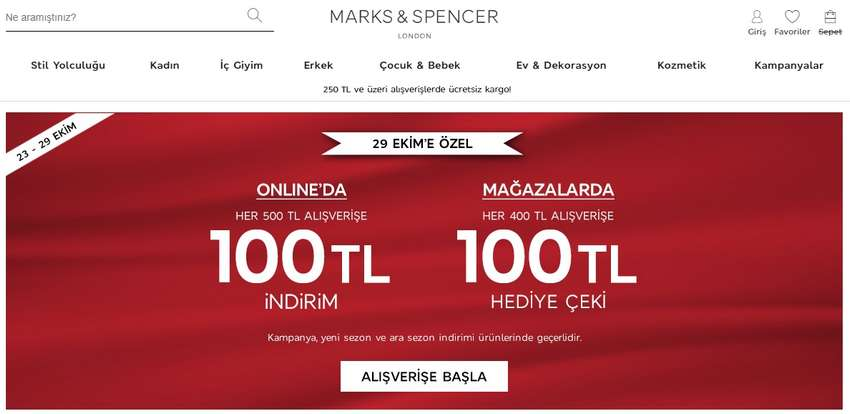 marks spencer indirim kodu