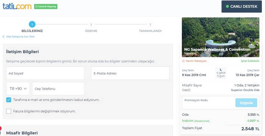 tatil.com promosyon kodu